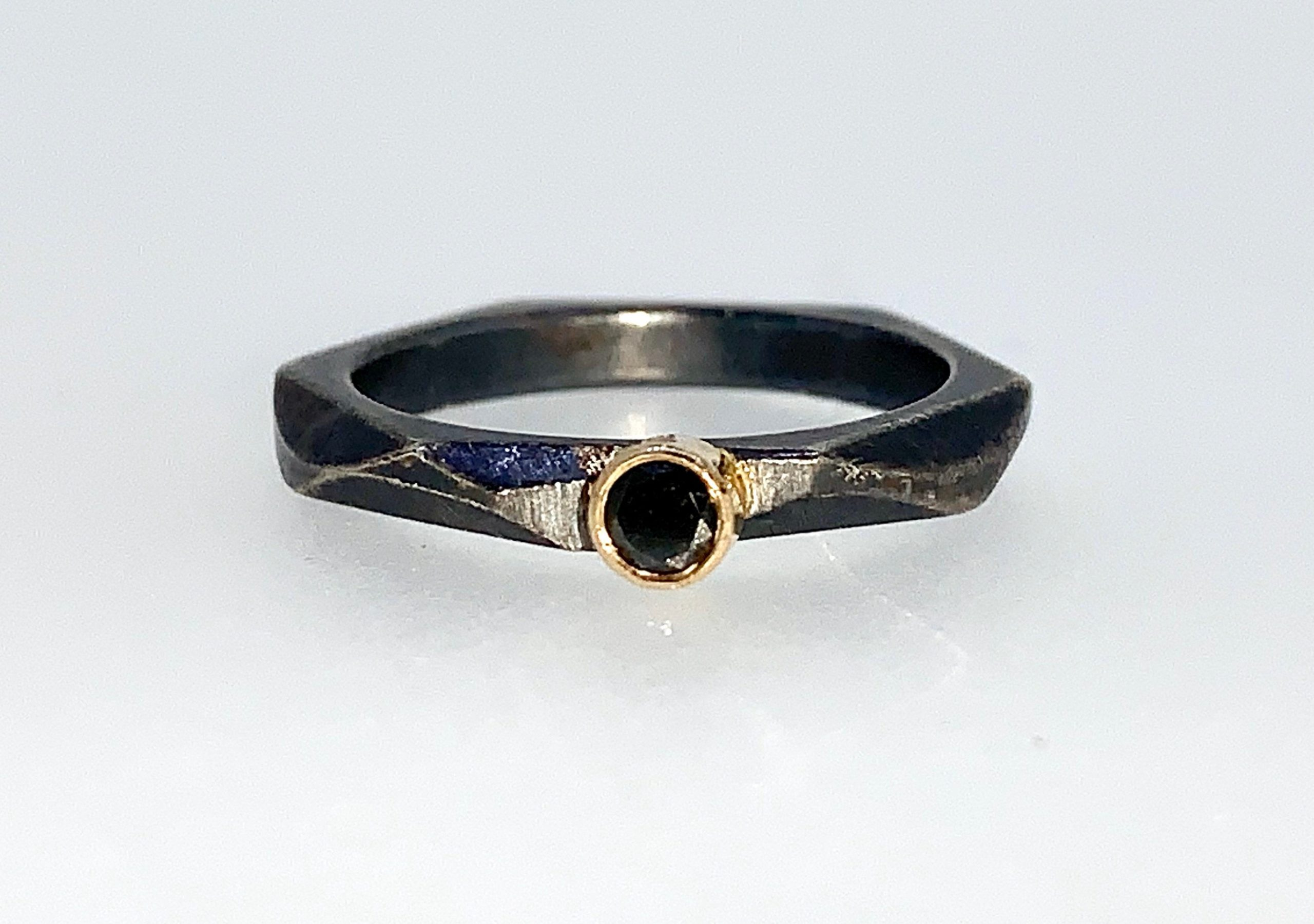 Black Diamond stacking ring