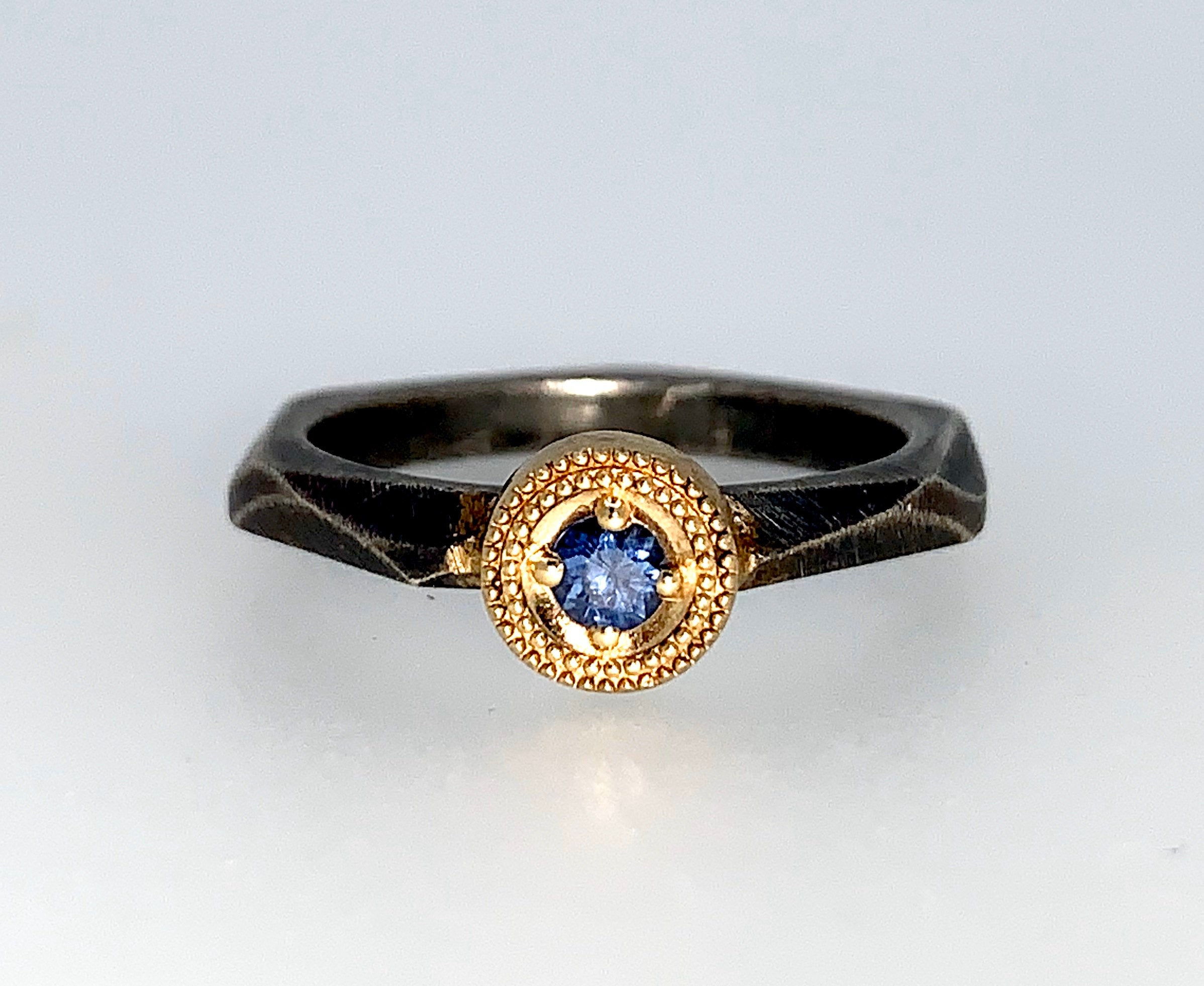 Ceylon Blue Sapphire Stacking Ring