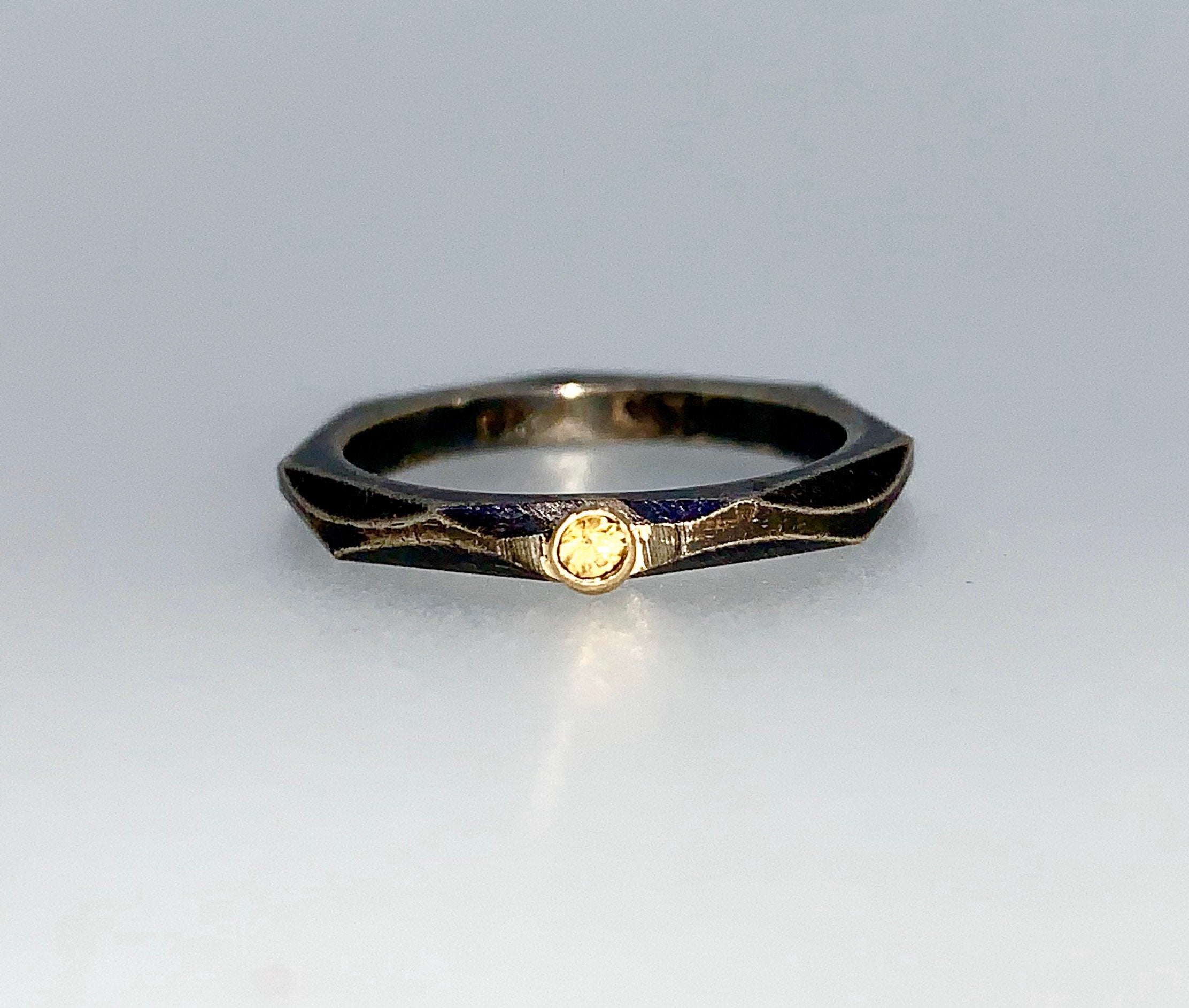 Yellow Sapphire Stacking Ring