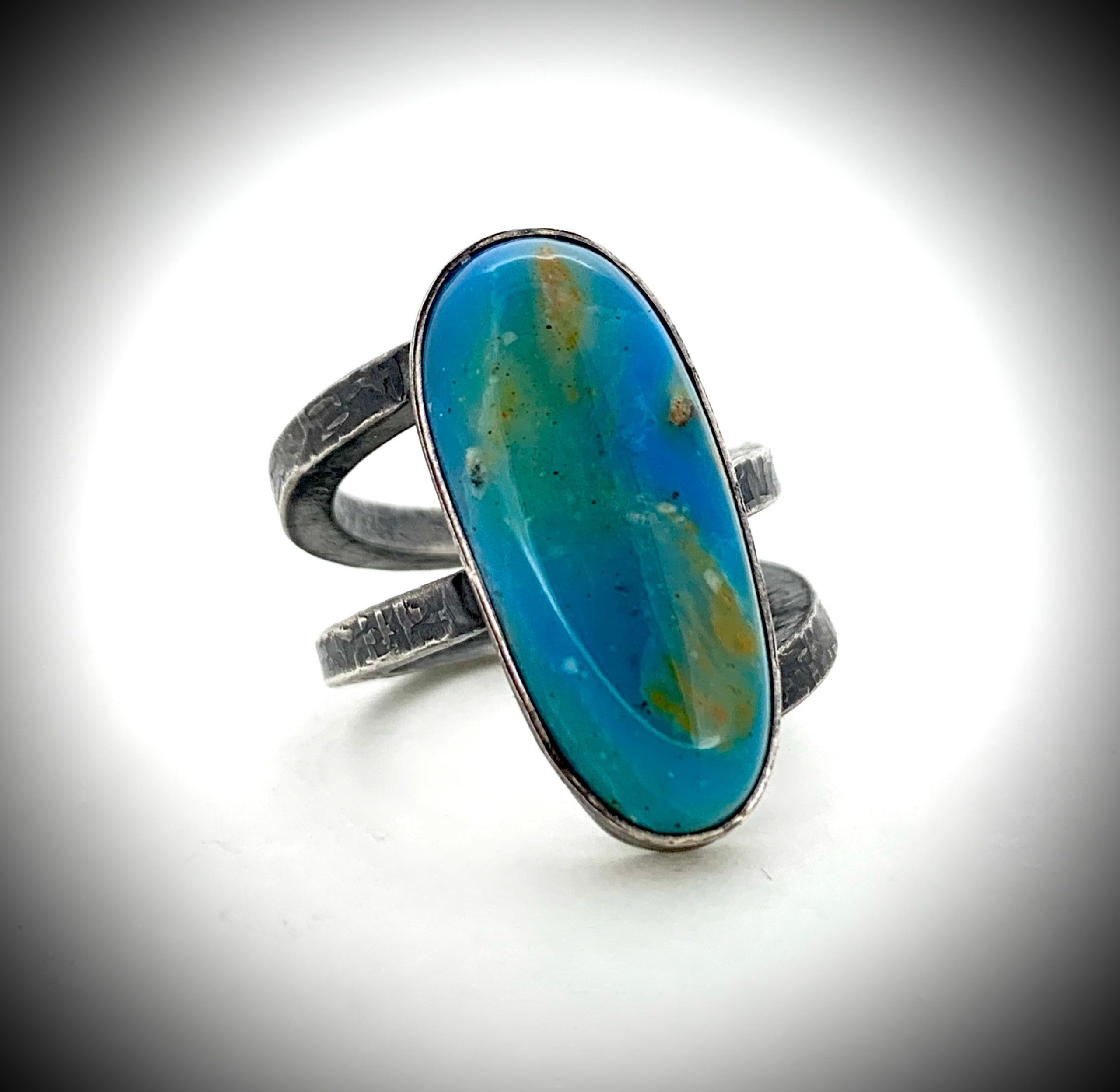 Peruvian Blue Opal Ring