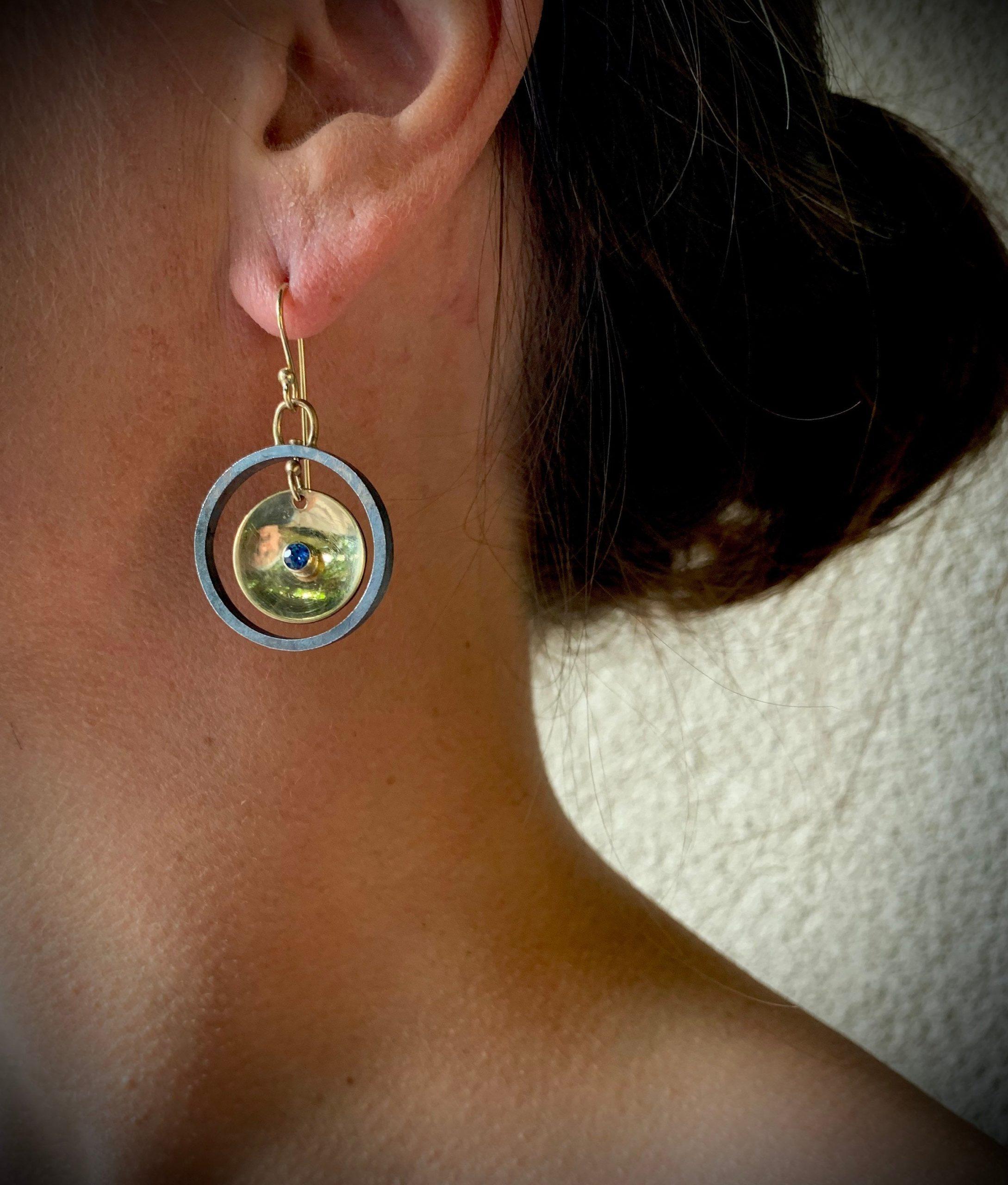 Sapphire Gong Earrings