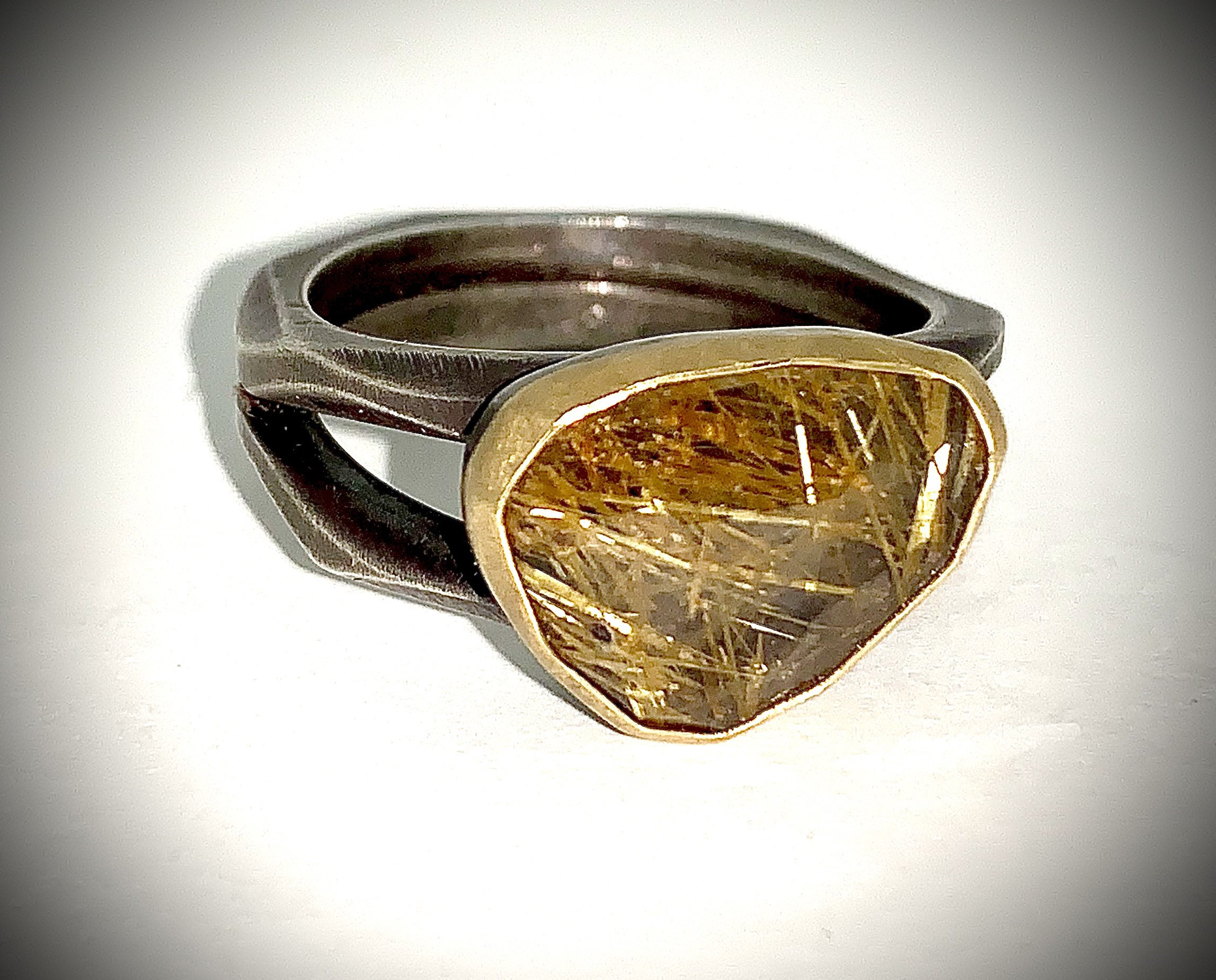 Ruitilated Quartz Ring