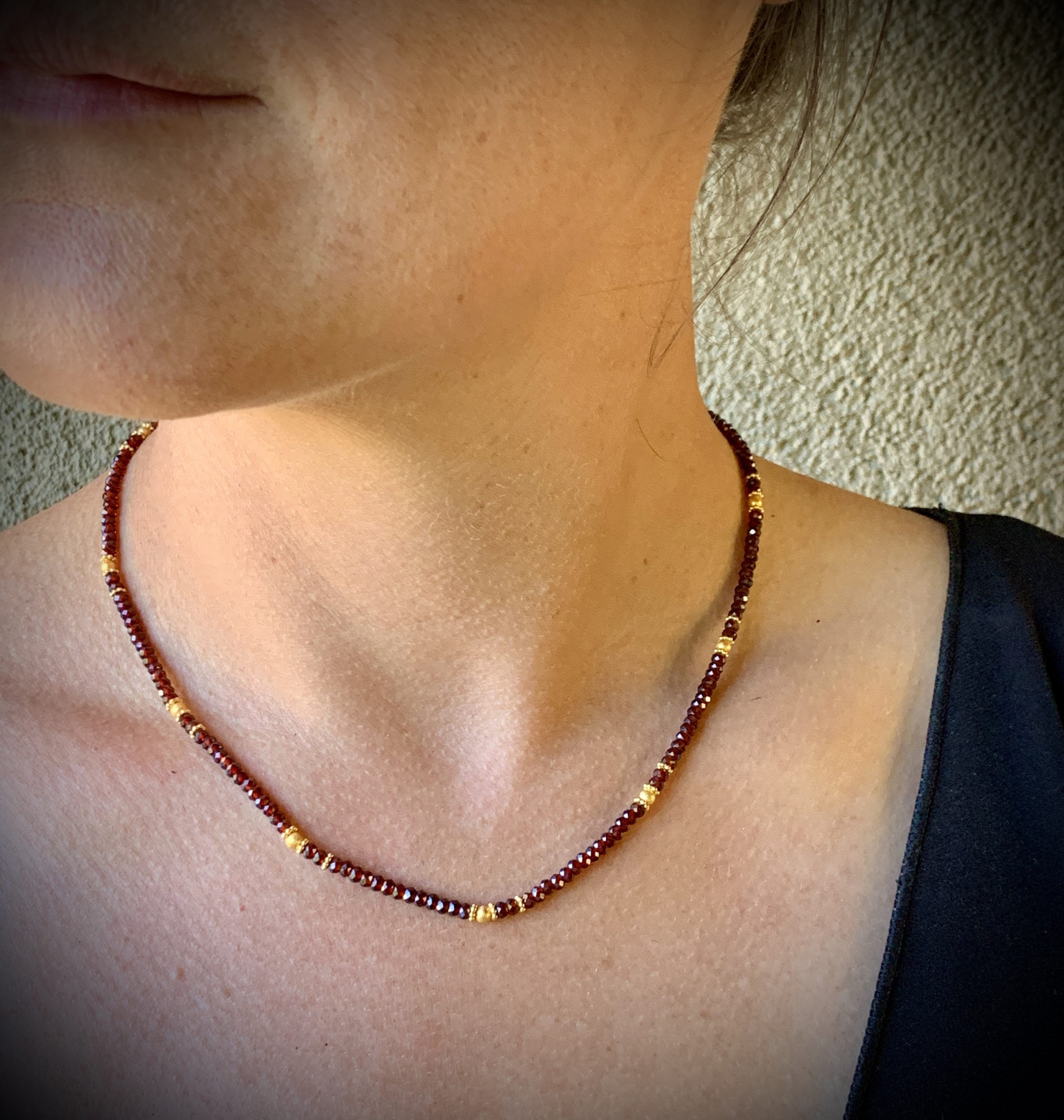 Faceted Mozambique Garnet Necklace