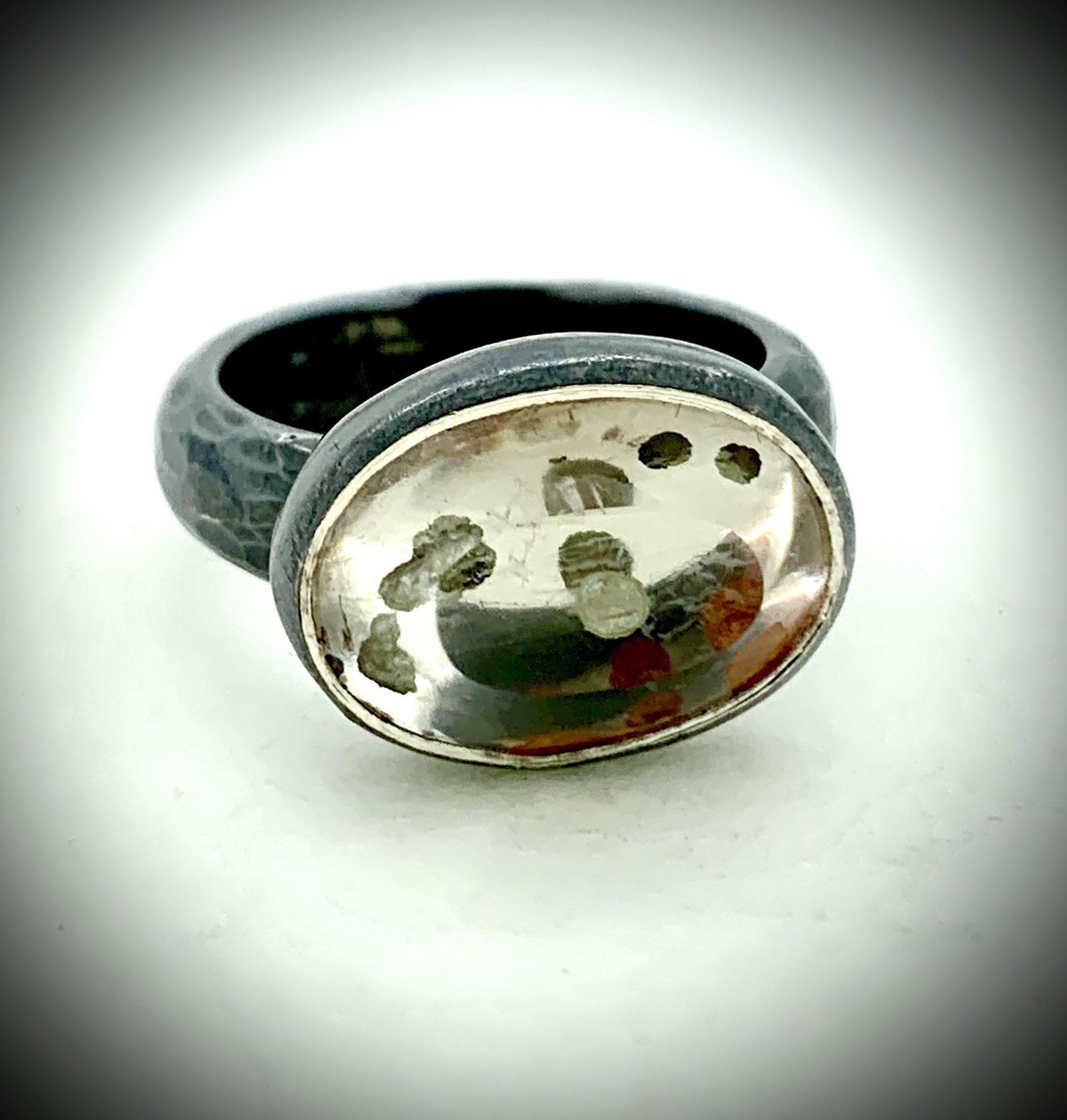 Speckled Quartz ring