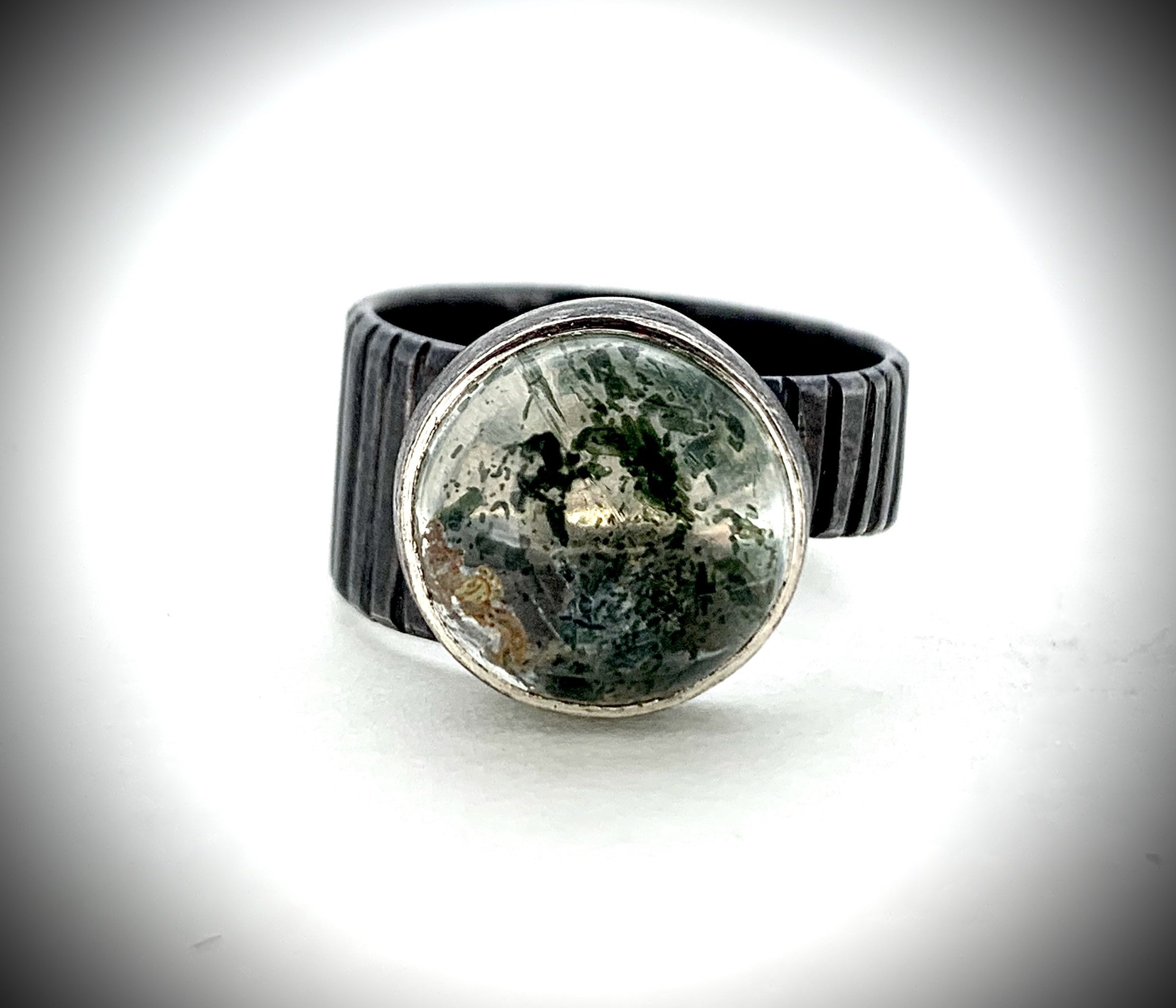 Mossy Quartz ring