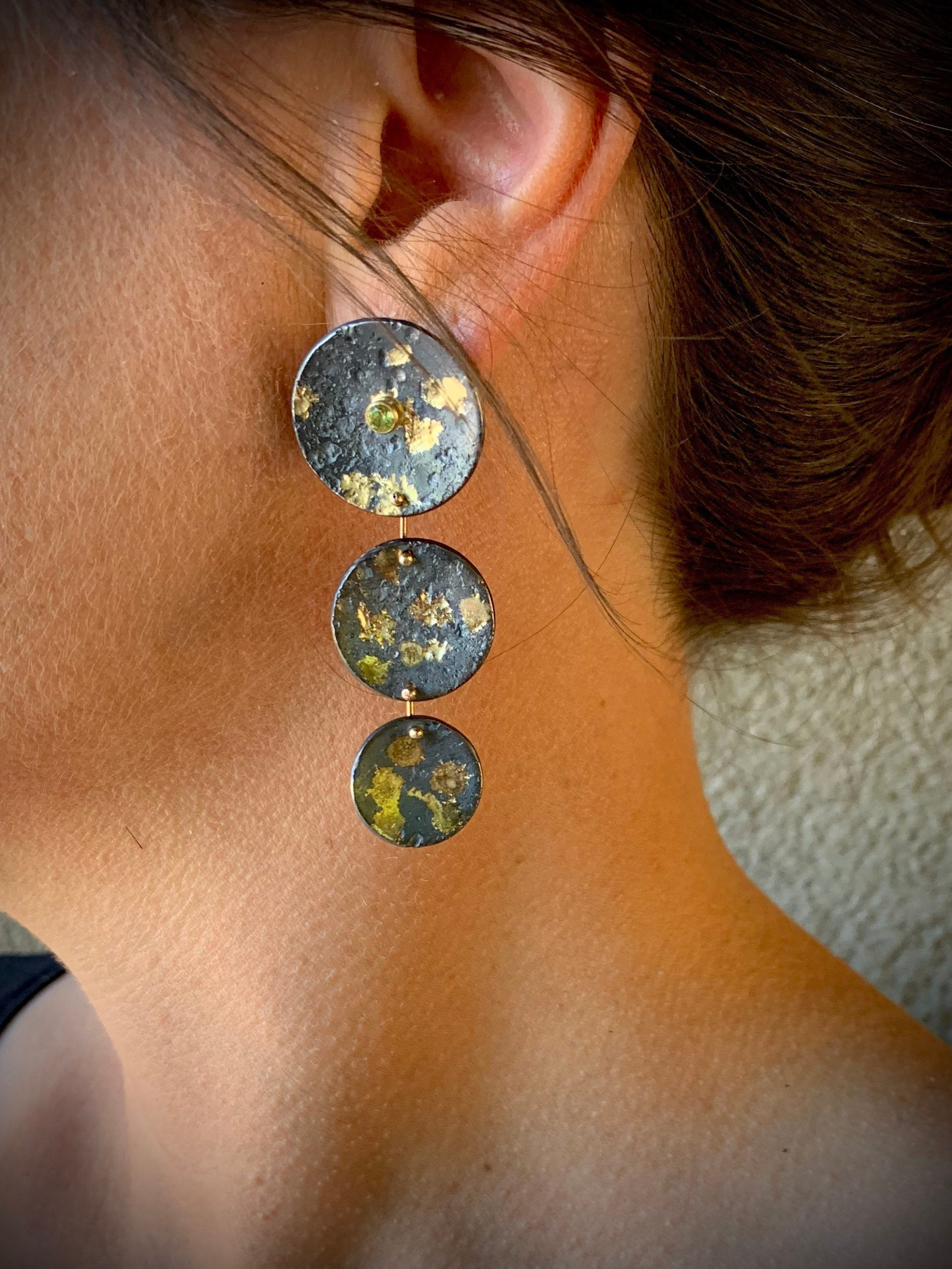 Triple Rondel Earrings
