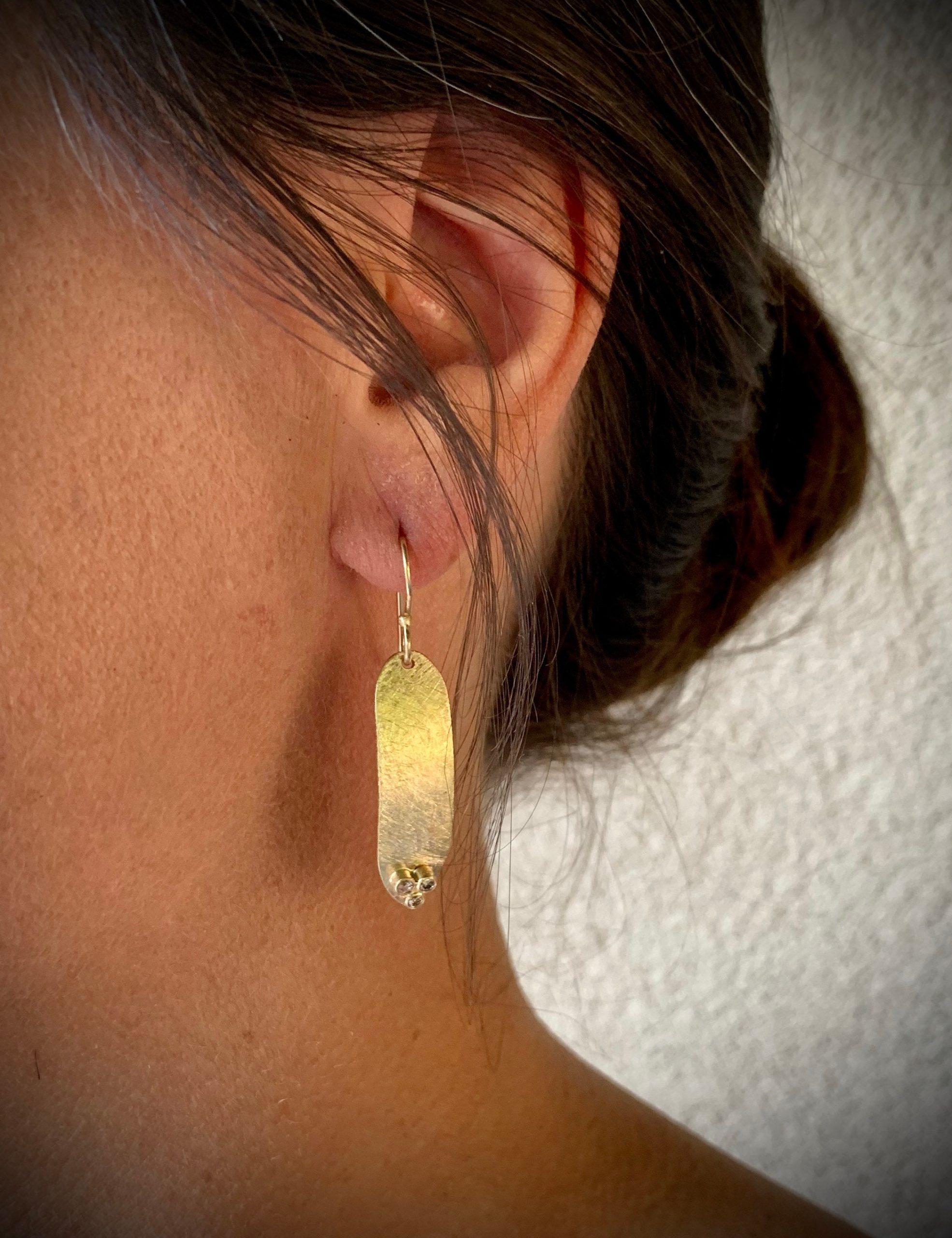 Triple Diamond Earrings