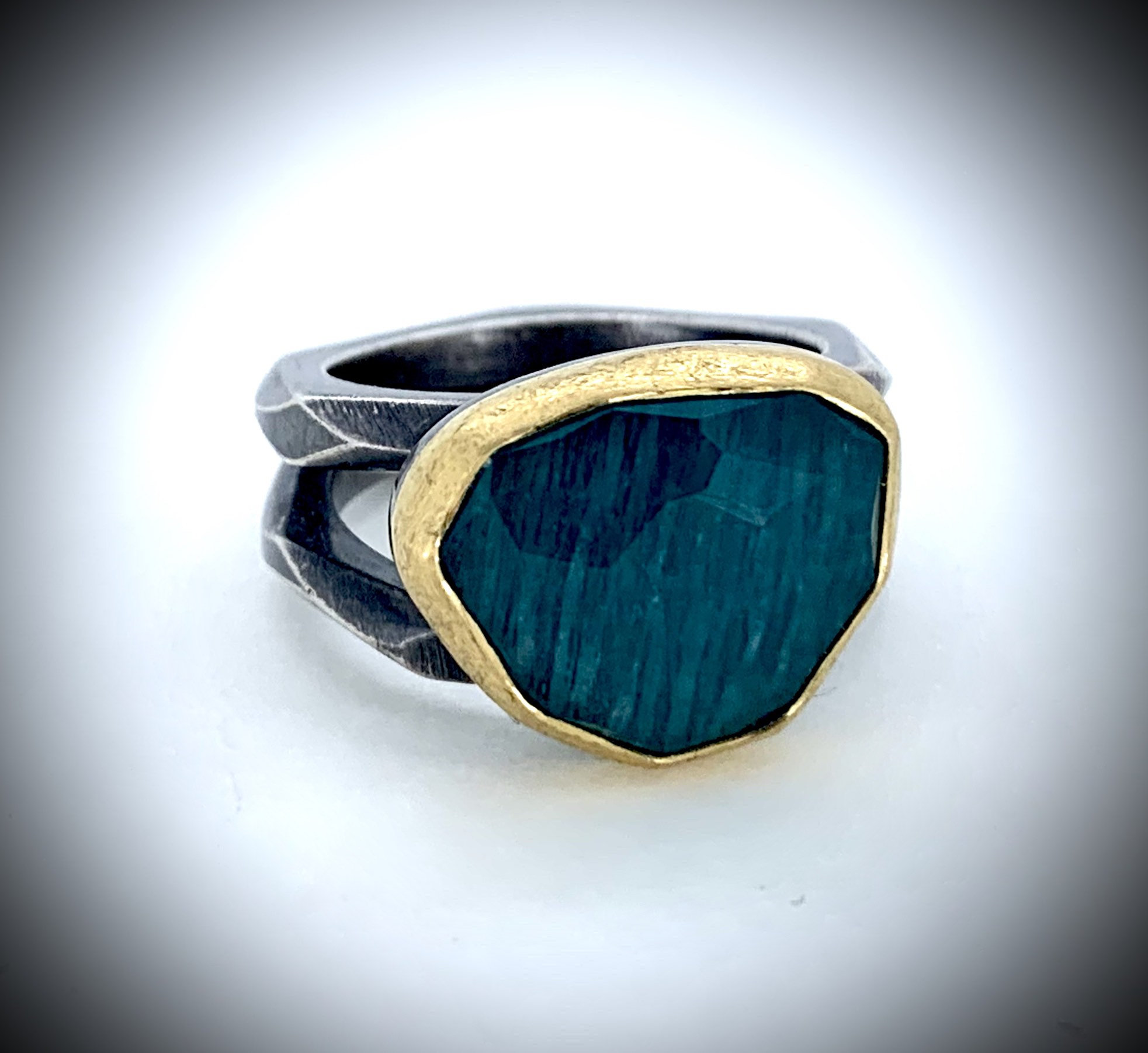 Earthship Amazonite Ring