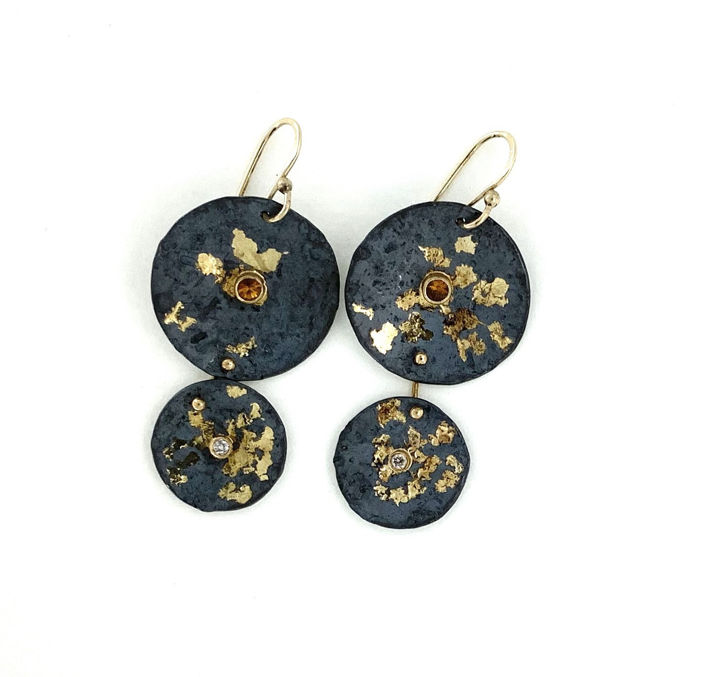 Double rondel earrings